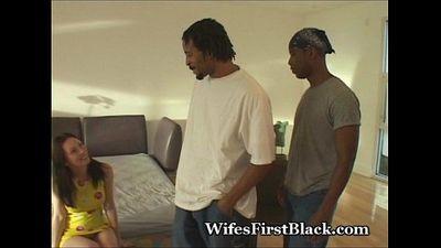 Wife Fulfills Sex Urge With 2 Blacks - 5 min
