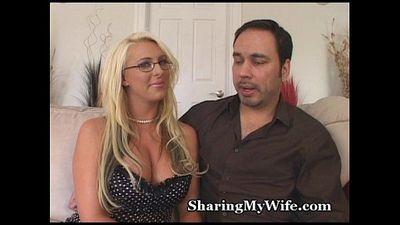 Sharing My Busty Wife - 3 min