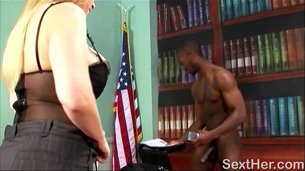 Busty Sara Jay Blows Black Man