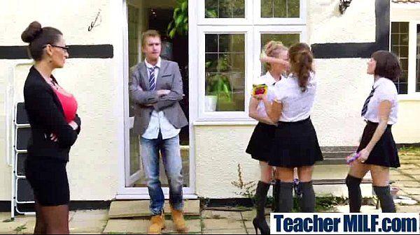Teacher (sensual jane) With Big Melon Tits Love Sex vid-29