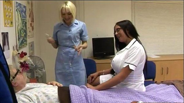Nasty cfnm nurses give hot handy