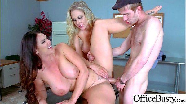 (Alison Tyler & Julia Ann) Big Rounds Jugg Girl Ger Hard Style Sex In Office video-03