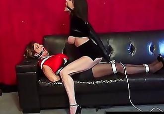 Bound Cougars Deauxma & Ashley Renee Fuck Ball Gagged! 11 min HD+