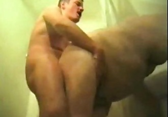 Amateur Man Fucks His Father-In-Law in Shower