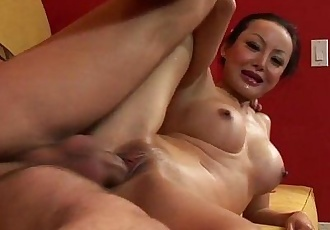 Asian slut Angie Venus fucked by huge cock - 5 min