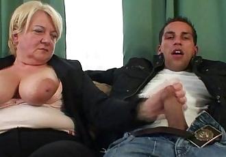 Two buddies bang old whore - 6 min