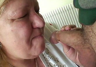 Young dude and huge titted granny gamesHD