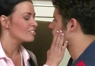 Massive tits stepmom Vanilla Deville 3way with naughty teens - 5 min