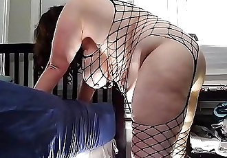 Bbw huge tit wife fucked from behind and creampied/huge swinging tits 6 min