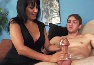 Sexy Brunette Milf Handjob