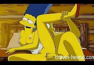 Simpsons Hentai - Cabin of love - 7 min