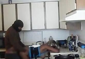 Hot Black Girl fucked in Kitchen