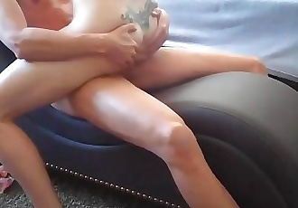 HORNY STEPMOM CATCHES SON JACKING OFF