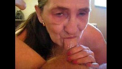 Old whore eats my cum. Amateur older - 1 min 3 sec