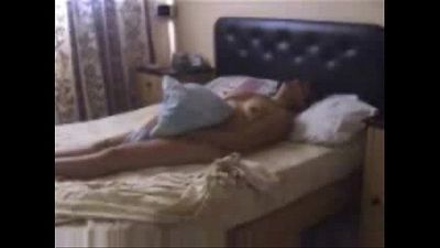 Hidden cam catches my mum masturbating on bed - 2 min