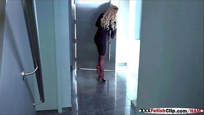 Cute lesbian babysitter Amara is seduced for her boss Phoenix - 59 sec