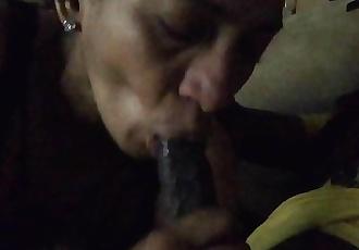 Cougar Loves Sucking My Big Dick