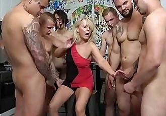 First Ever Grandma GangBang! Cum Everywhere! 6 min 720p