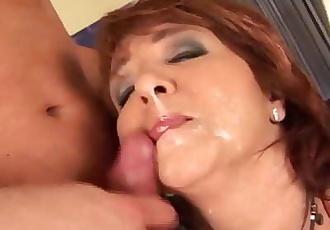 redhead curvy mom first time anal sex 12 min