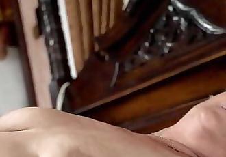 Young guy watches a masturbating granny 6 min