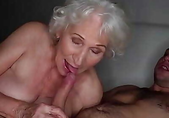 Be quiet, my husbands sleeping!Best granny porn ever! 6 min HD+