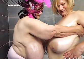 2 older ladies with huge tits 49 sec