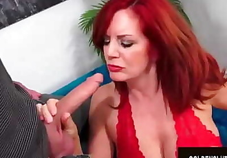 Beautiful Older Redhead Andi James Gorges Herself on Man Meat 8 min 720p