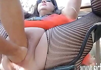 XXL double fisting and insertions for BBW huge pussy 6 min