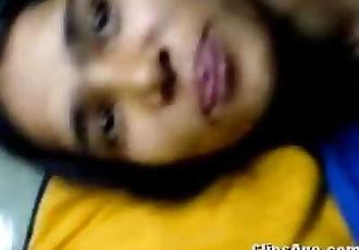 Desi virgin girl Jinitha getting fucked by her lover guy scandal video 11 min