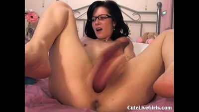 cute brunette fucking her juicy pussy hard(4).flv - 7 min