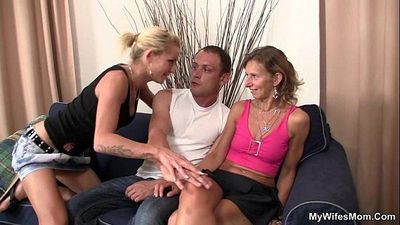 She sees her man fucking mother in law - 6 min