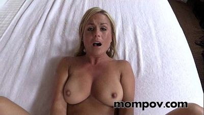 hot milf gets a big cream pie on camera - 5 min