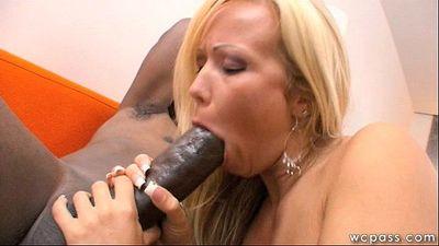 Blonde MILF Loves Big Black Cock - 7 min