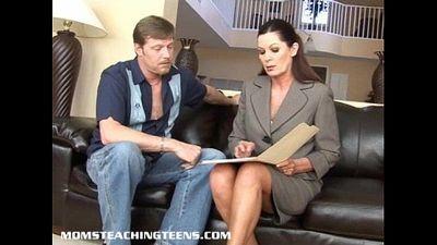 Milf Magdalene teaching teen Brooke how to suck and fuck - 7 min