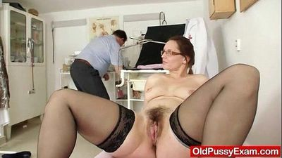 Milf hairy pussy closeups and real gyno exam - 5 min
