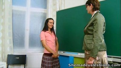 She Made Us Lesbians - Olya and her sweet young sexy schoolmate - 5 min