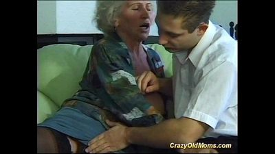 busty crazy old mom needs only fresh strong cocks - 8 min