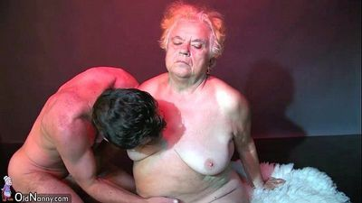 OldNanny Fat big granny have a sex with young guy - 8 min HD