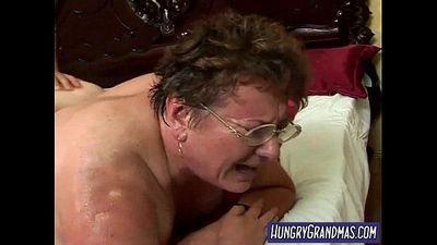 sweaty fat granny rear pussy fucked - 7 min