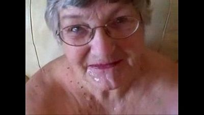 Old granny really loves young cock. Great amateur facial - 3 min