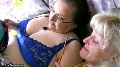 Chubby granny and old granny masturbating - 8 min HD