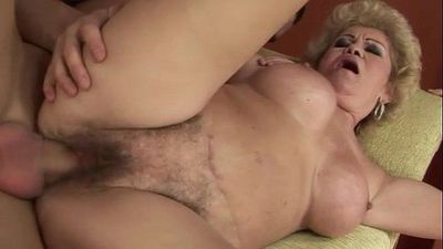Amateur old grandmother gets fucked - 6 min