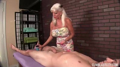 Huge-Titted Granny Handjob - 5 min HD