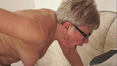 Granny Ursula Grande fucks a much younger cock - 6 min HD