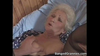 Busty blonde MILF slut sucking big fat - 5 min