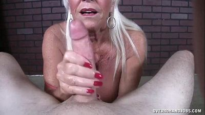 Old Lady POV Jerking - 3 min HD