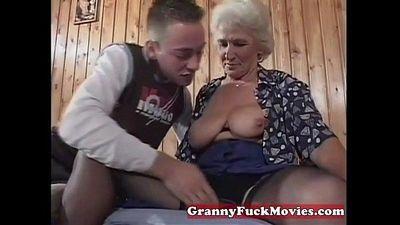 Grandma eager for younger dicks - 5 min