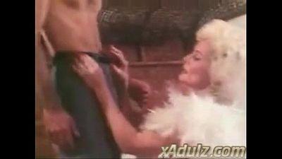 Retro Grey Haired Granny Gives Sensual Deepthroat and Tit Job - 9 min
