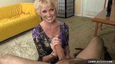 Topless Granny Splattered WIth Cum - 4 min HD