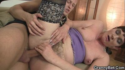 She takes his stiff young cock - 6 min